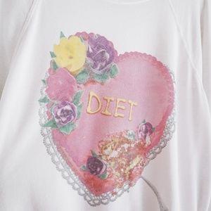 "Wildfox Tops - Wildfox ""Diet"" Cake Graphic Crewneck Sweatshirt"